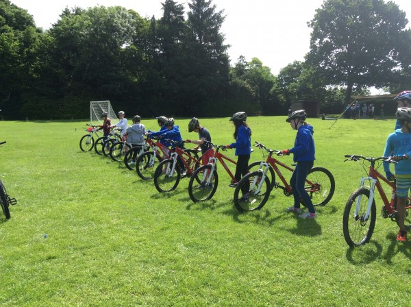 CHS pupils go for a bike ride