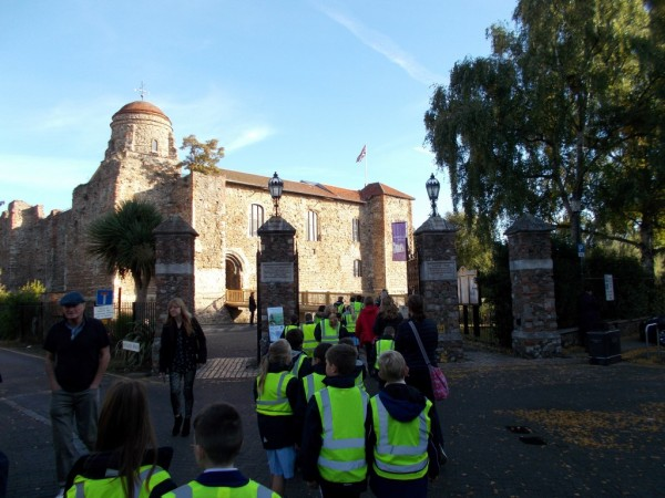 CHS pupils wear high vis vests on school trip around Colchester