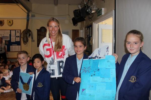 Saskia Clark visits CHS