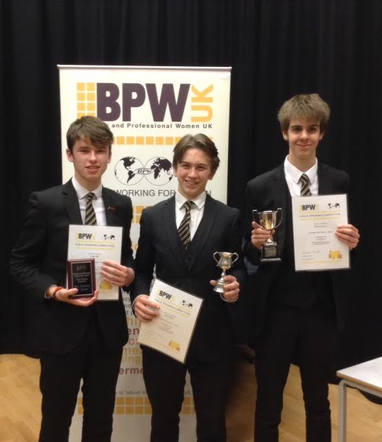 CHS PUPILS EXCEL ONCE AGAIN IN THE BPW PUBLIC SPEAKING COMPETITION