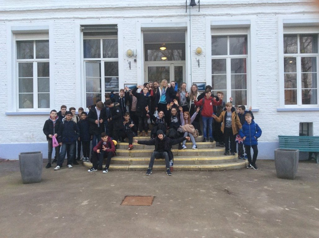 CHS pupils pose outside on school day trip