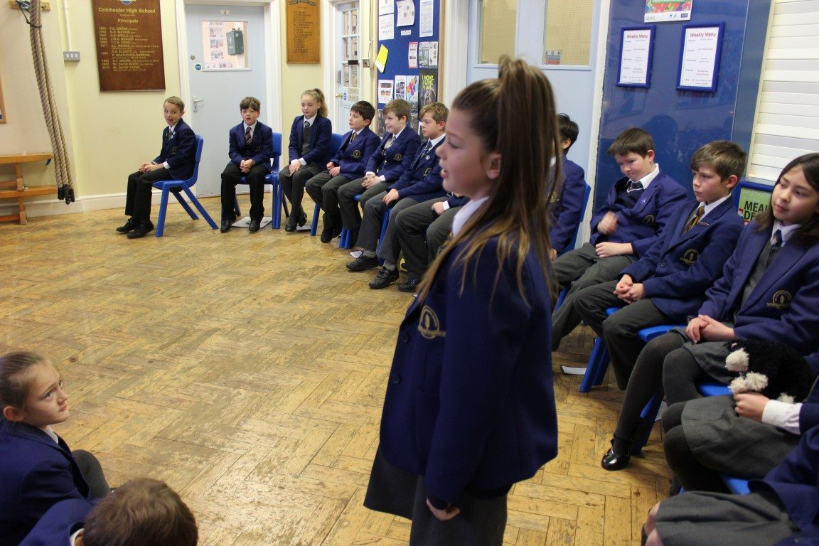 CHS pupils perform at class assembly