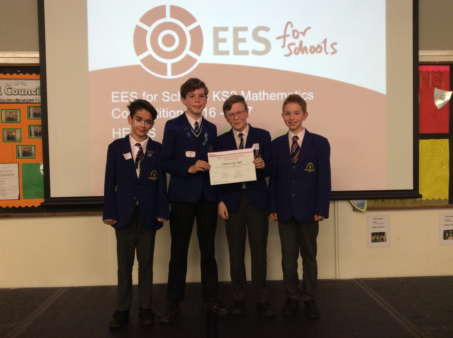 CHS Pupils Gain 2nd Place at the EES for Schools KS2 Mathematics Competition 2017