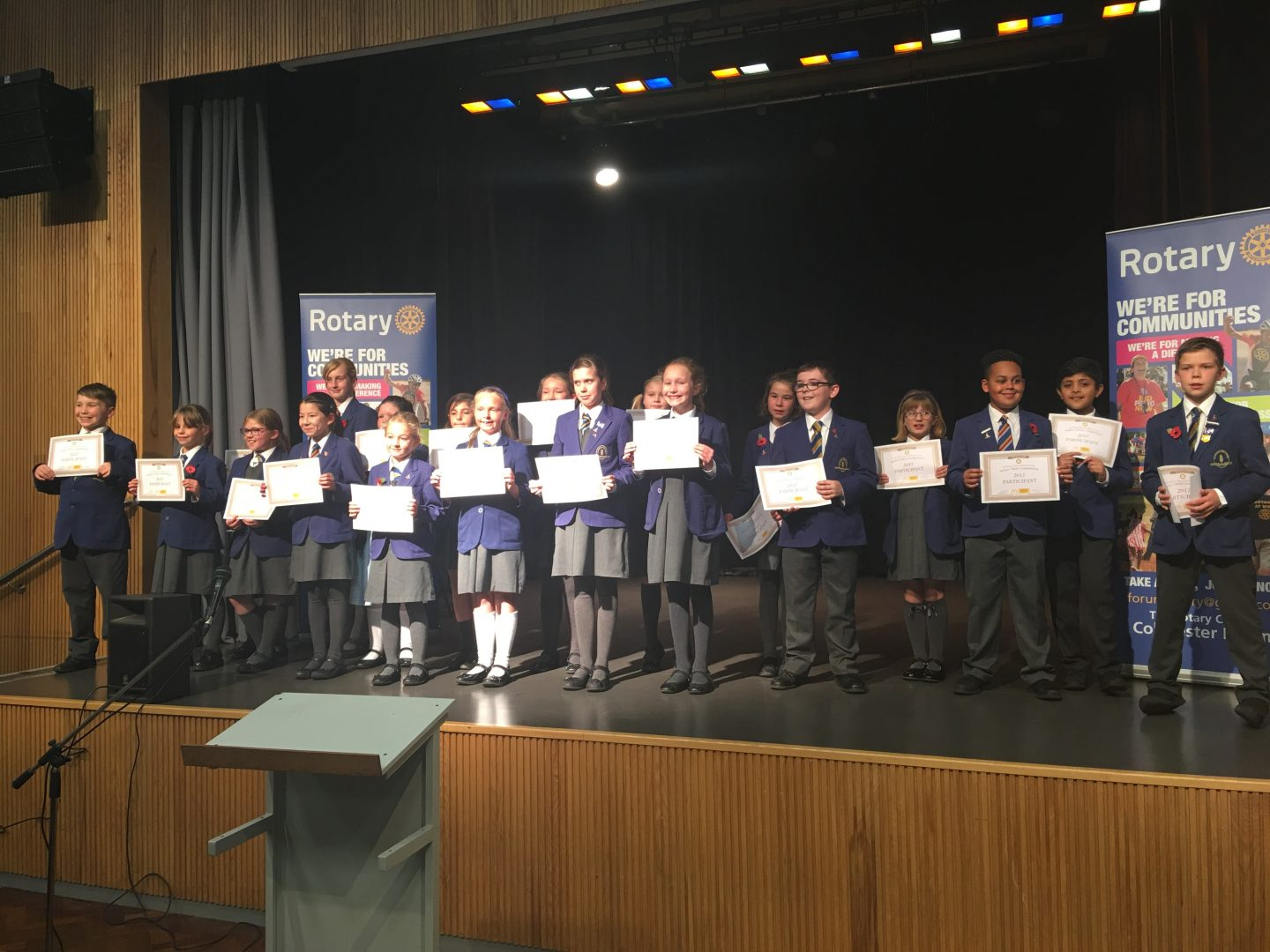 Amazing Performance at the Rotary Junior Choir Competition
