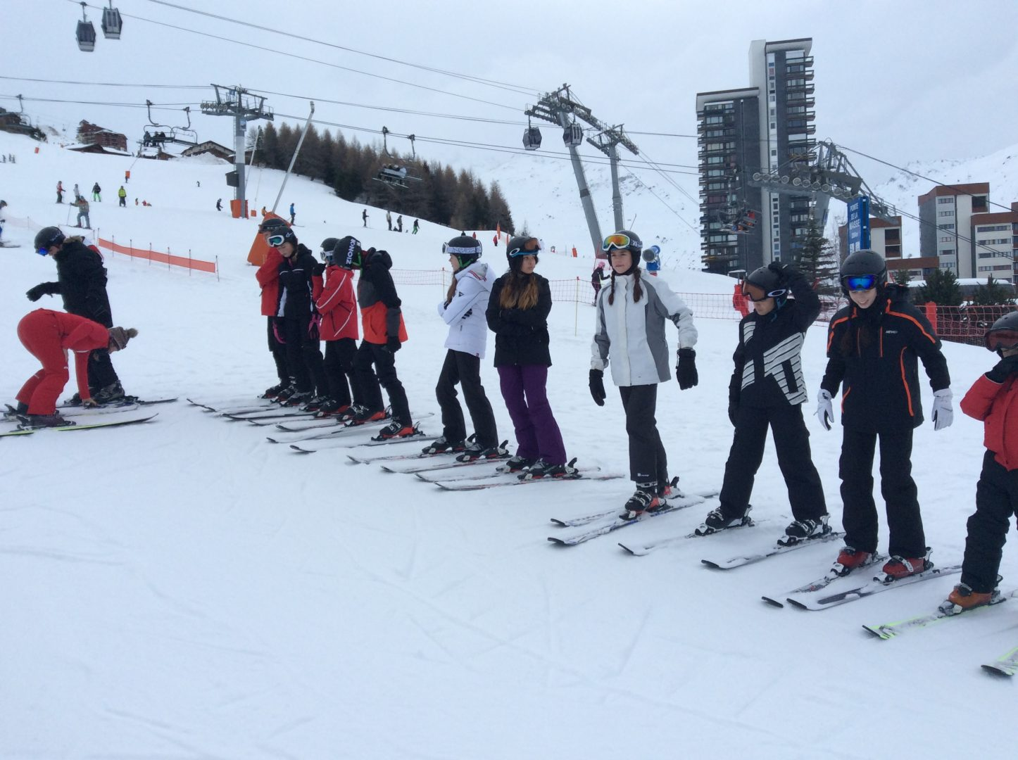 Les Menuires Senior School Ski Trip - Day 2