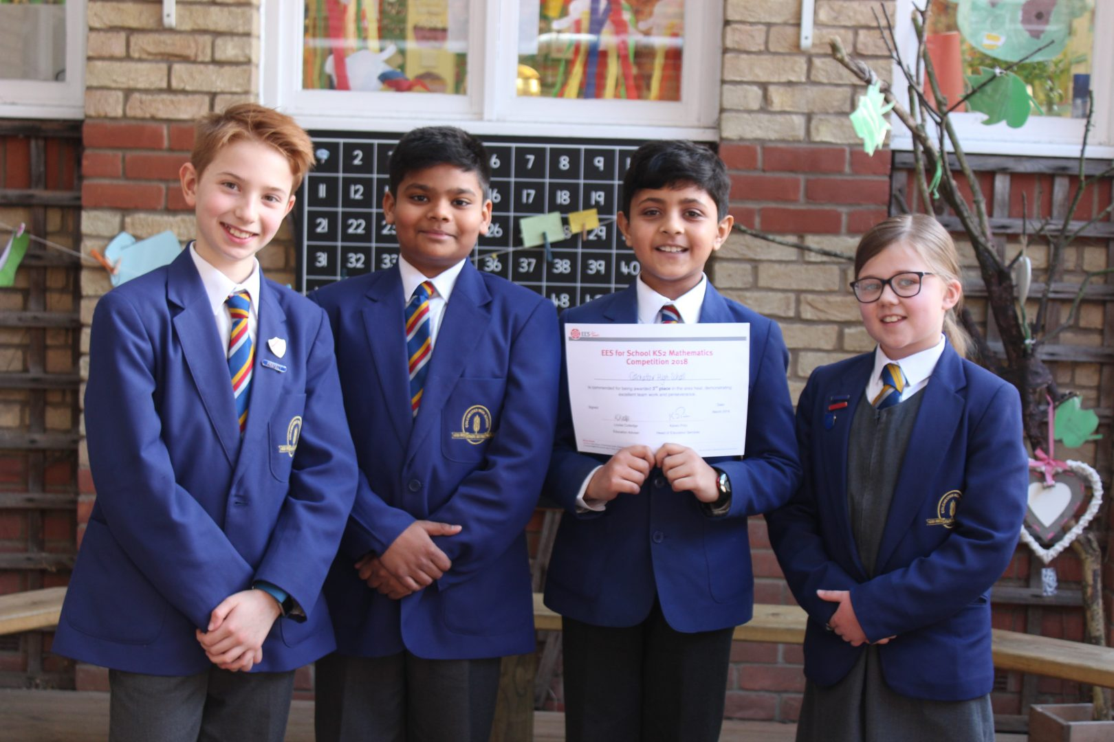 And A Top Scoring Third Place at the EES KS2 Mathematics Competition