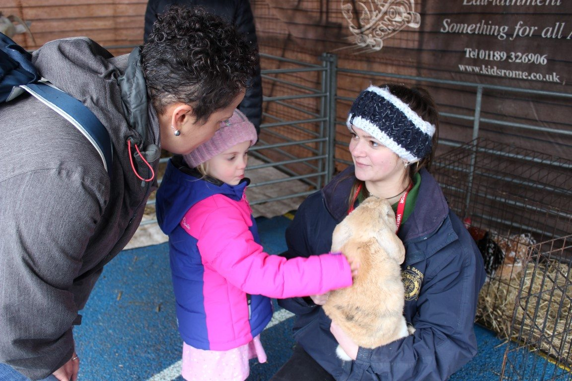 CHS pupils enjoy petting farm event