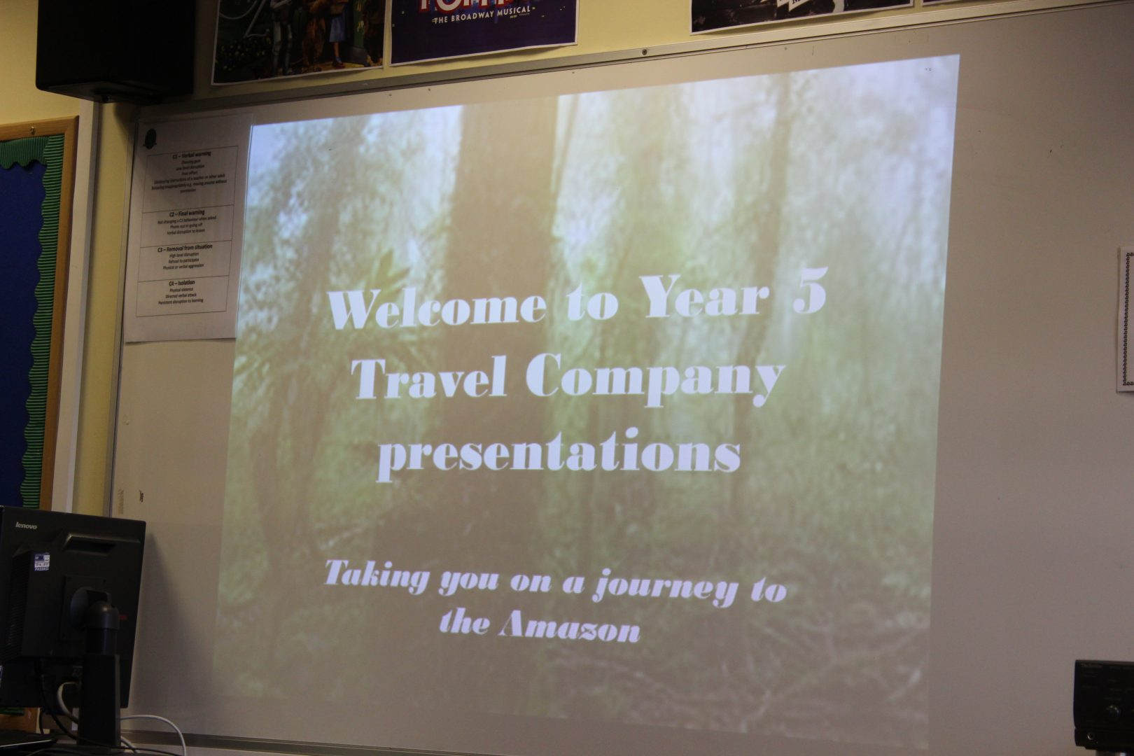 Year 5 Travel Company Presentations of the Amazon